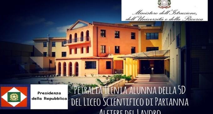 """Ilenia Petralia nominata """"Alfiere del lavoro"""""""