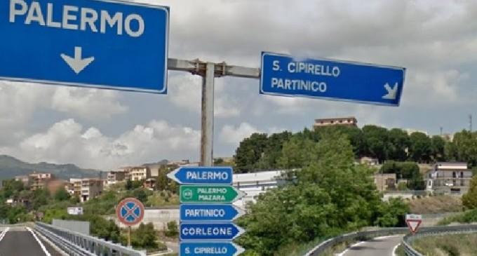 Cede pilone sulla Palermo-Sciacca, strada chiusa al traffico