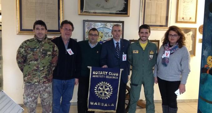 Uso del defibrillatore, Rotary Club Marsala forma personale dell'Aeronautica Militare di Birgi