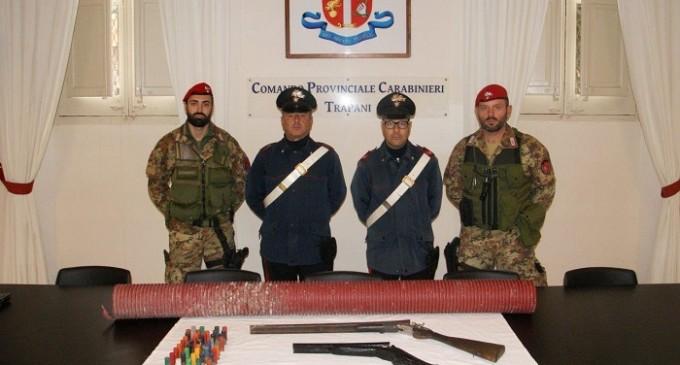Trapani: armi rinvenute in un casolare abbandonato, i Carabinieri indagano