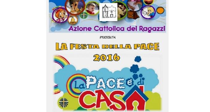 """Mazara: domani """"Azione Cattolica Ragazzi – FESTA DELLA PACE 2016"""""""