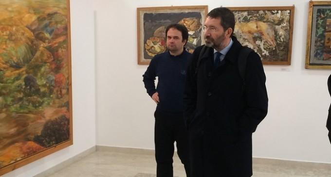 Santa Ninfa: la visita al museo «Cordio» dell'ex sindaco di Roma Ignazio Marino