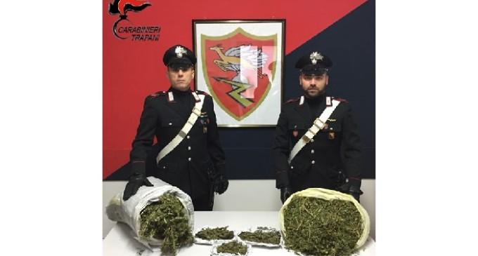 Marsala: nascondeva a casa oltre 4 kg di marijuana, arrestato dai Carabinieri
