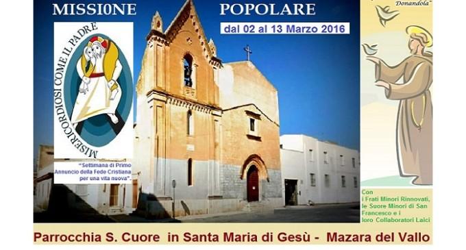 """Da oggi al 13 marzo la """"Missione Popolare Francescana – Misericordiosi come il Padre"""""""