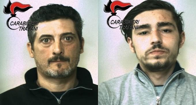 Castelvetrano: arrestati due pregiudicati locali per estorsione ai danni di un commerciante