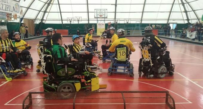 Hockey su carrozzina: prima vittoria per i Leoni Sicani