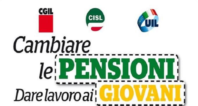"""""""Cambiare le pensioni e dare lavoro ai giovani"""": sabato a Trapani mobilitazione Cgil, Cisl e Uil"""
