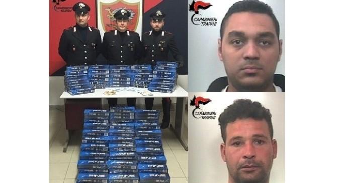 Petrosino: sorpresi con 50 kg di sigarette di contrabbando, arrestati