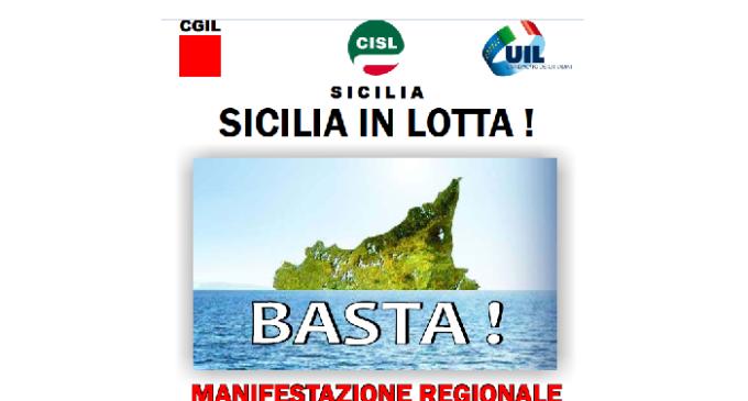 """Il 7 maggio a Palermo la manifestazione regionale Cgil Cisl Uil """"Sicilia in lotta"""""""