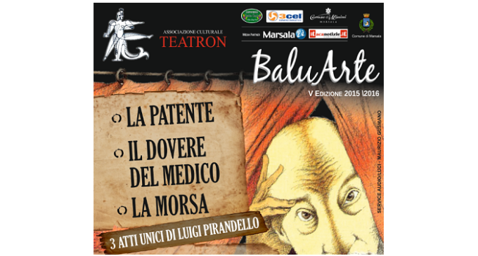 """Marsala: """"Pirandello al Sollima"""", domenica tre atti unici per Teatron al Teatro Comunale"""