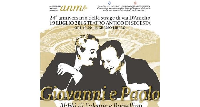 """Anniversario della strage di Via D'Amelio, in scena """"Giovanni e Paolo – Aldilà di Falcone e Borsellino"""""""