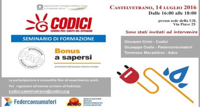"""""""Bonus a sapersi"""": giovedì seminario sul bonus energia elettrico e gas alla Uil di Castelvetrano"""