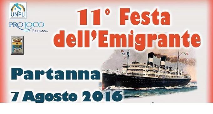 """Partanna: domenica 7 agosto """"11° Festa dell'Emigrante"""""""