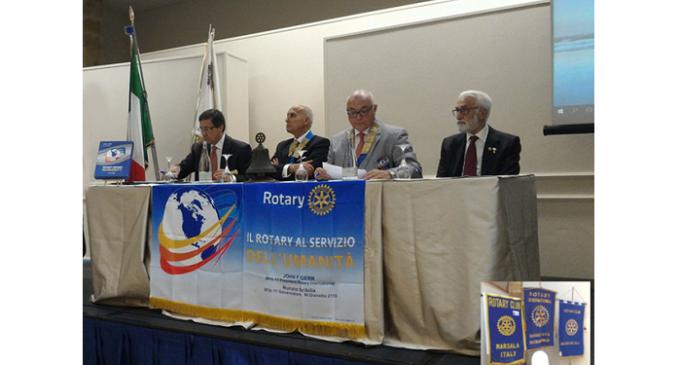 Il Gov. Nunzio Scibilia in visita al Rotary Club Marsala e Rotary Club Mazara