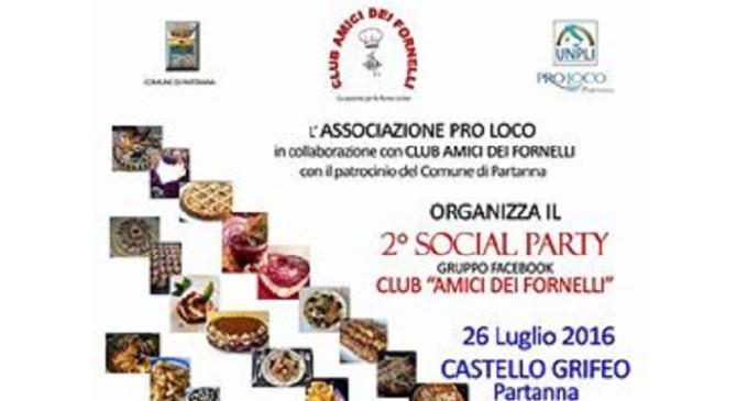 """Partanna: martedì 26 luglio al Castello Grifeo il 2° """"Social Party"""""""