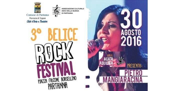 """Partanna: martedì 30 agosto il """"3° Belice Rock Festival"""""""