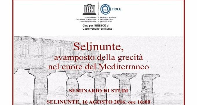 """Martedì 16 agosto il seminario """"Selinunte, avamposto della grecità nel cuore del Mediterraneo"""""""