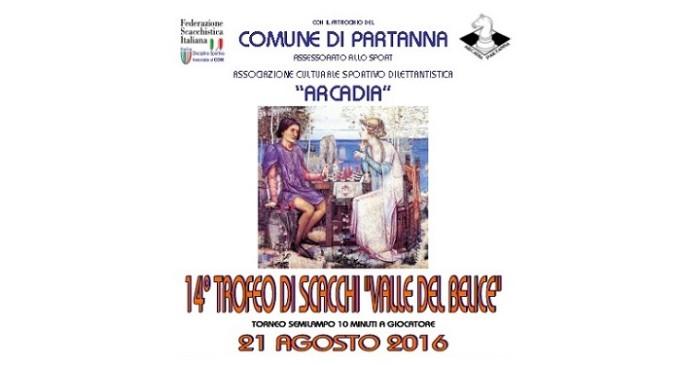 """Partanna: il 21 agosto 14° Trofeo di Scacchi """"Valle del Belice"""""""