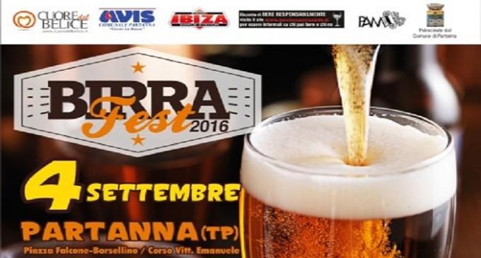 """Partanna: domenica 4 settembre """"Birrafest 2016"""""""