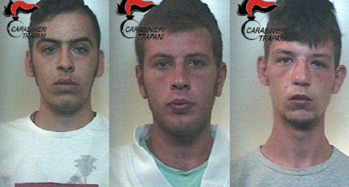 Alcamo: Carabinieri arrestano tre giovani responsabili di rapina ai danni di un coetaneo