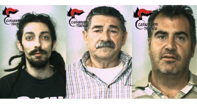 Castelvetrano e Campobello: due blitz antidroga dei Carabinieri, tre arresti