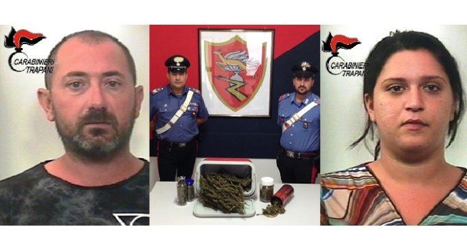 Marsala: nascondevano marijuana in casa, due arresti dei Carabinieri
