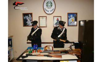 Castelvetrano: arsenale in casa, arrestato dai Carabinieri 77enne