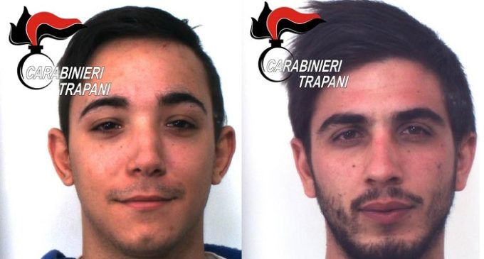 Trapani: evadono dai domiciliari per commettere furti, arrestati due giovani