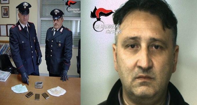 Santa Ninfa: alt dei Carabinieri, arrestato con tre etti di hashish