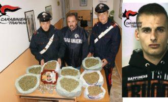 Campobello: Carabinieri sequestrano più di sette kili di marijuana, un arresto