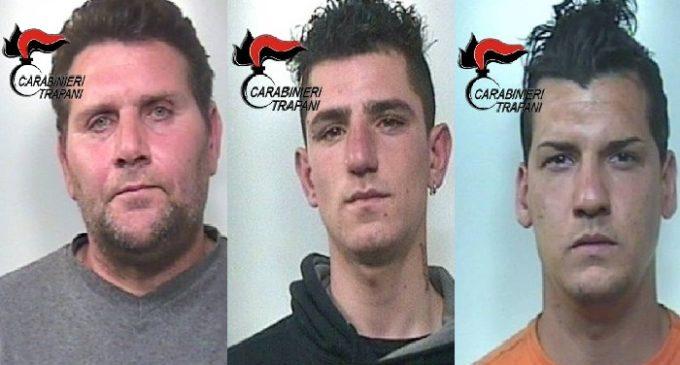 Castelvetrano: arrestati dai Carabinieri per furto tre castelvetranesi
