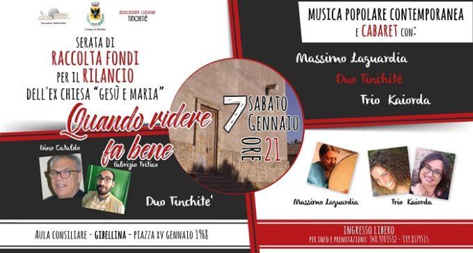 Gibellina: sabato raccolta fondi con spettacolo di musica popolare e cabaret