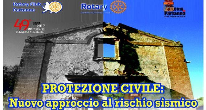 """Partanna: domenica """"Protezione civile: Nuovo approccio al rischio sismico"""""""