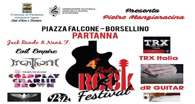 Partanna, giovedì 31 agosto il IV Belice Rock Festival