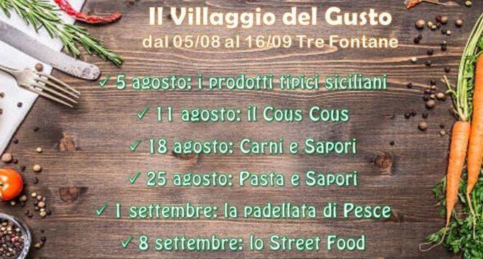 """Il 5 Agosto a Tre Fontane si inaugura il """"Villaggio del Gusto"""""""