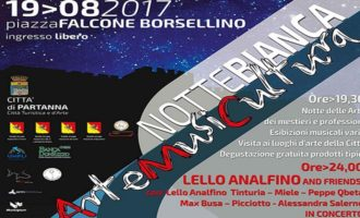 """Partanna, """"Notte Bianca"""" con un grande concerto di Lello Analfino and friends"""