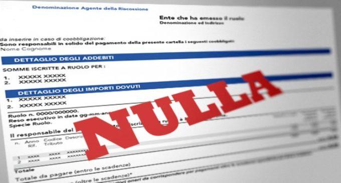 Nove mila euro di cartelle esattoriali, annullate grazie a Codici