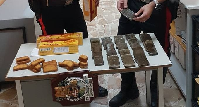 Castelvetrano, hashish in scatole per biscotti. Arrestato 21enne
