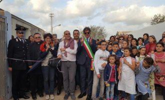 Campobello, inaugurazione del parco urbano. Grande entusiasmo dei bambini