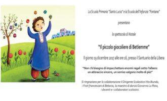 """Partanna: """"Il Piccolo Giocoliere di Betlemme"""", lo spettacolo della Scuola Primaria """"Santa Lucia"""" e d'Infanzia """"Fontana"""""""