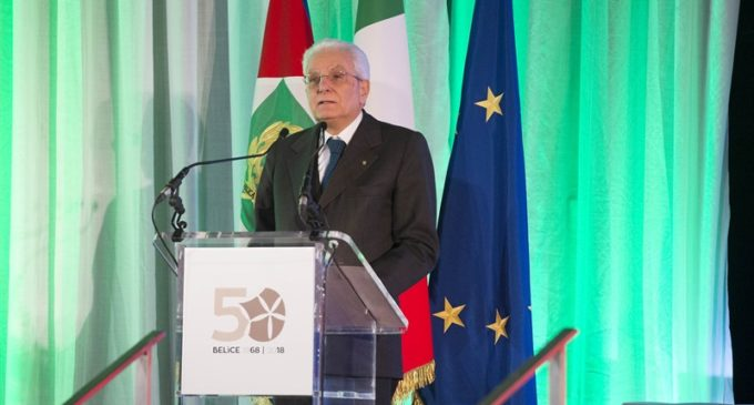 Presidente della Repubblica, 50° Anniversario Terremoto del Belìce