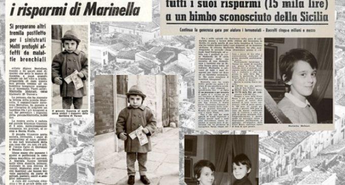 A 50 anni dal Terremoto nel Belice: la storia di Marinella che donò i suoi risparmi al piccolo Vincenzo