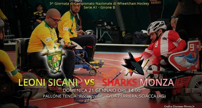 Gli Sharks Monza a Sciacca. I Leoni Sicani pronti al wheelchair hockey italiano