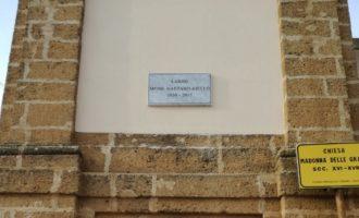 Partanna, Chiesa Madonna del Grazie: uno spiazzale dedicato a Padre Aiello