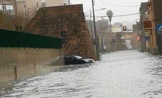 [FOTO/VIDEO] Pioggia incessante e violenta: si registrano i primi danni in provincia