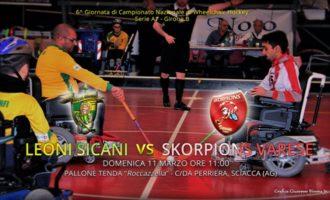 Domenica 11 marzo i Leoni Sicani affronteranno gli Skorpions Varese