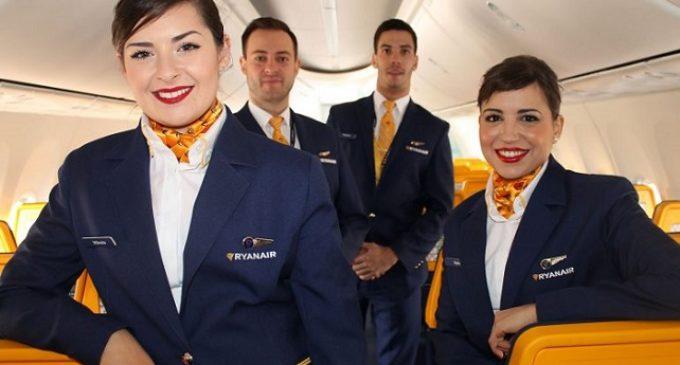 Trapani, Ryanair ricerca stewart anche senza esperienza. Lavoro a tempo indeterminato