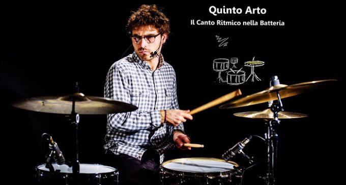 """Il batterista Fausto Craparotta in tour in Sicilia. Tre """"Drum Clinic"""" su """"Quinto arto. Il canto ritmico nella batteria"""""""