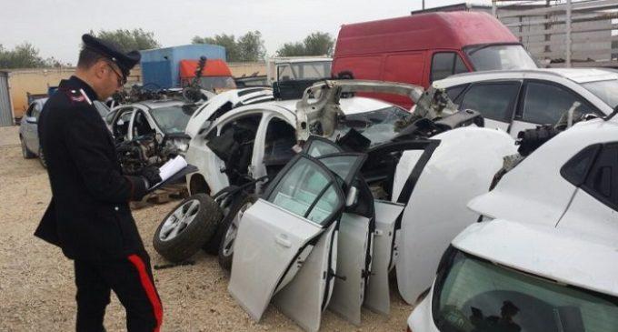 Controlli dei Carabinieri, trovate a Marsala 8 auto rubate