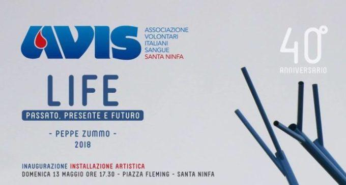 """L'Avis Santa Ninfa festeggia i primi 40 anni con l'artista Zummo. Inaugurazione dell'opera """"Life"""""""
